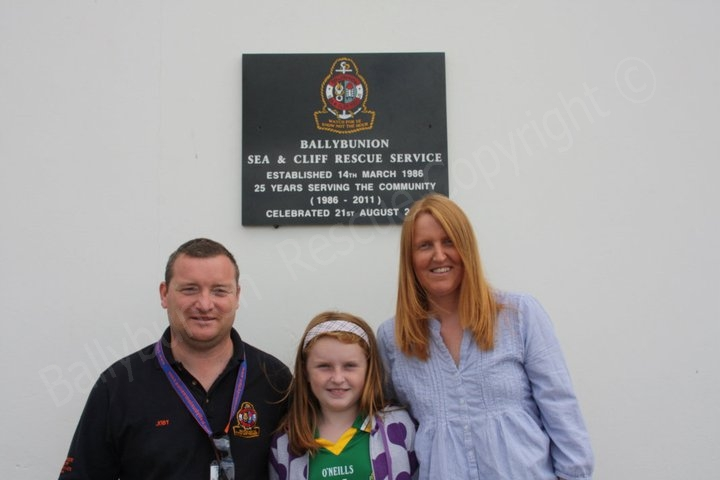 Member Joby Costello with his family