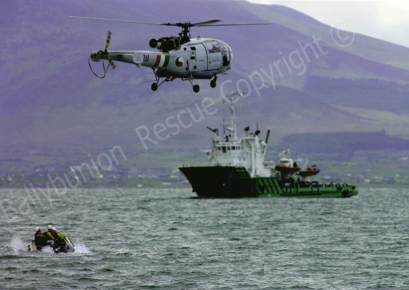 D Class and the Irish Air Corps winching in Fenit Harbour