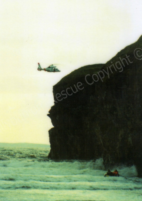 Irish Air Corps searching for a missing man and his son in Ballybunion