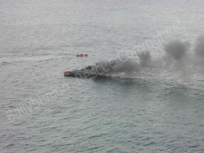 Vessel on fire off Ballybunion